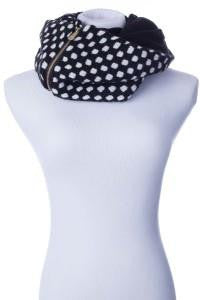 MinxY Polkadot Infinity Scarf with Hidden Pocket