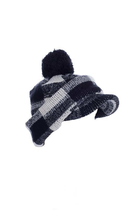 MinxNY Checkered Hat with Neck & Face Guard