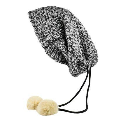 MinxNY Black & White Bedford Scarf & Hat