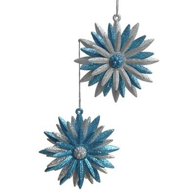 Blue and Silver Flower Ornament - Jouets LOL Toys
