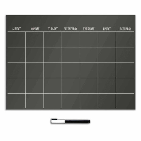 Monthly Dry Erase Calendar (Black) - Jouets LOL Toys