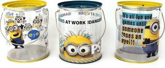 Minions at Work Tin Transparent Paint Can Bucket - Jouets LOL Toys