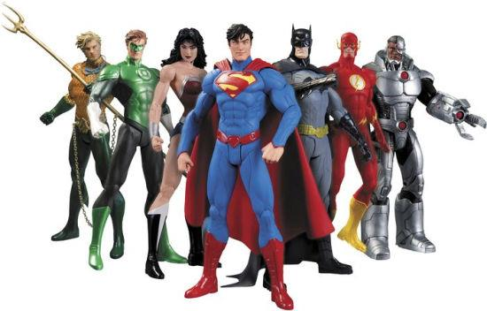 DC New 52 Justice League 7-Pack - Jouets LOL Toys