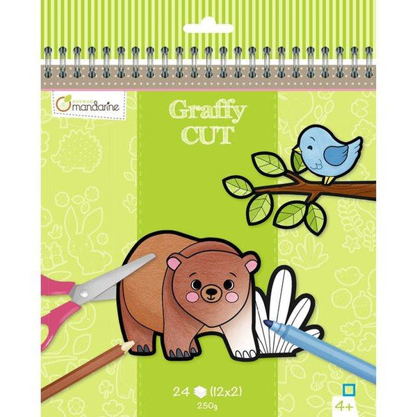 Avenue Mandarine Graffy Cut Coloring Book - Jouets LOL Toys