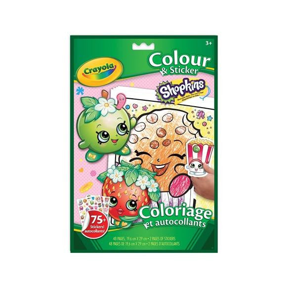 Shopkins Coloring and Sticker Book - Jouets LOL Toys