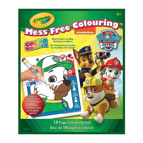 Paw Patrol Mess Free Coloring Book - Jouets LOL Toys
