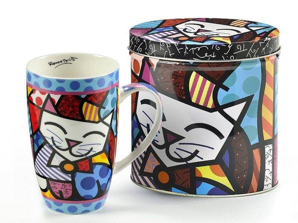 Britto Mug in Tin Cat (13 oz) - Jouets LOL Toys