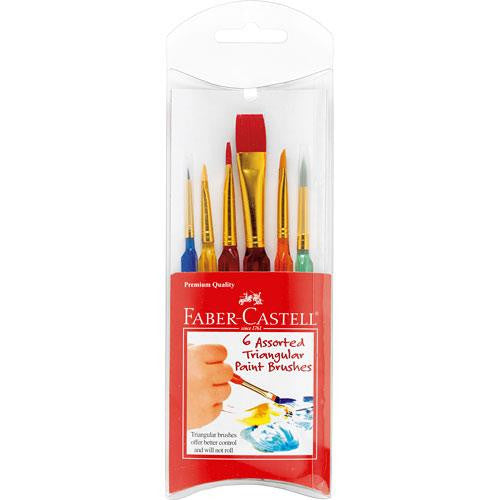 Faber Castell Triangular Pain Brushes - Jouets LOL Toys