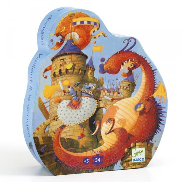 Djeco Puzzle Vaillant and the Dragon (54pcs) - Jouets LOL Toys