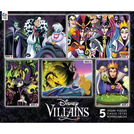 Disney Villains Jigsaw Puzzles (5 in 1) - Jouets LOL Toys