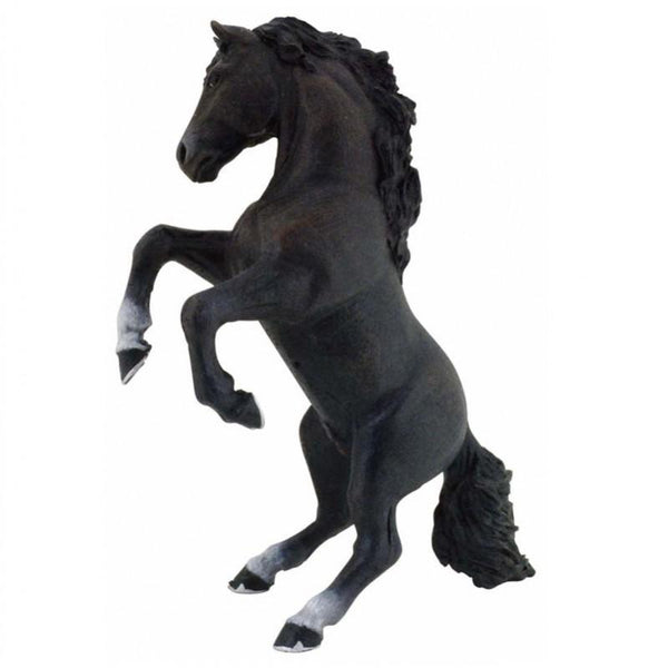 Papo Black Rearing Horse - Jouets LOL Toys