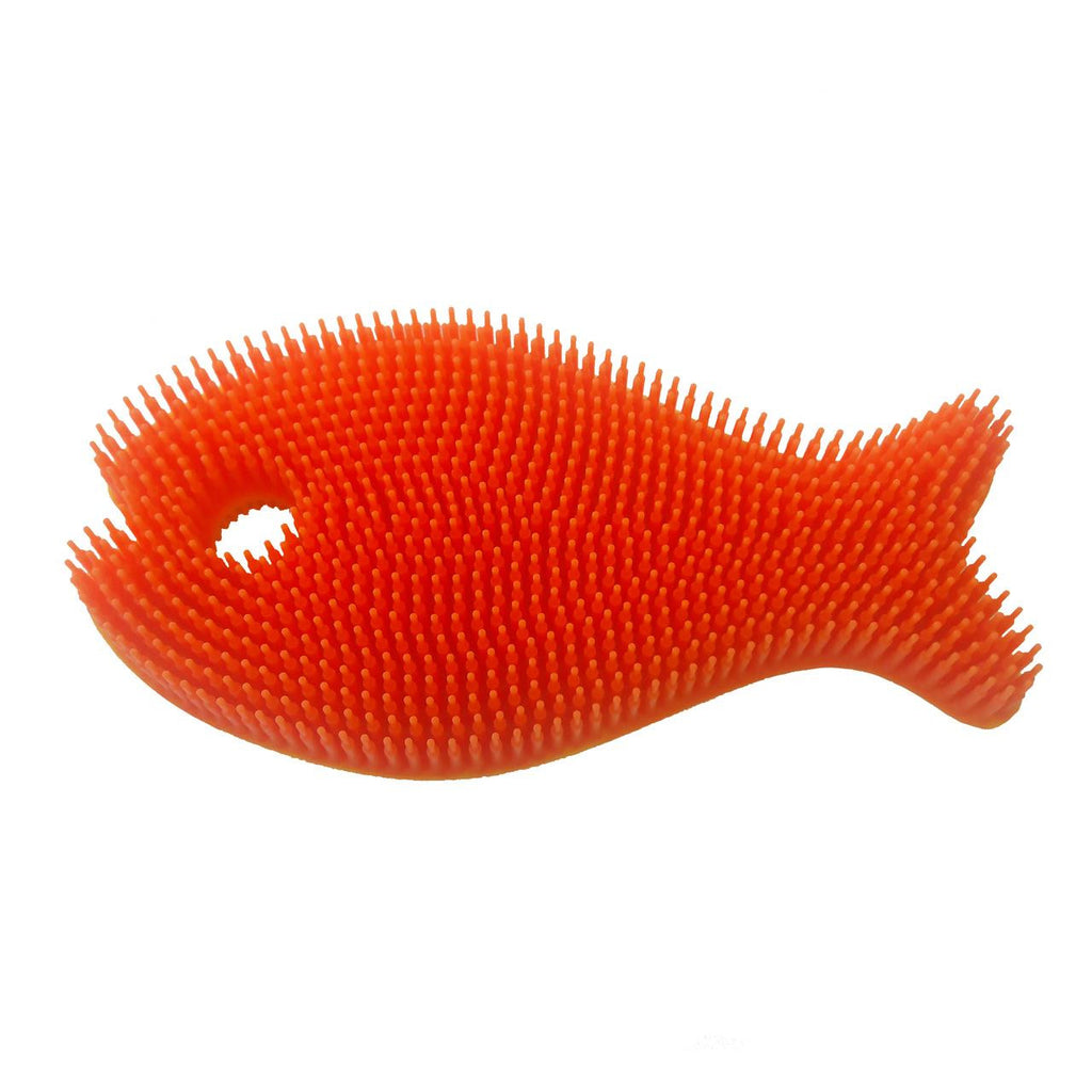 Silicone Bath Scrub Orange Fish - Jouets LOL Toys