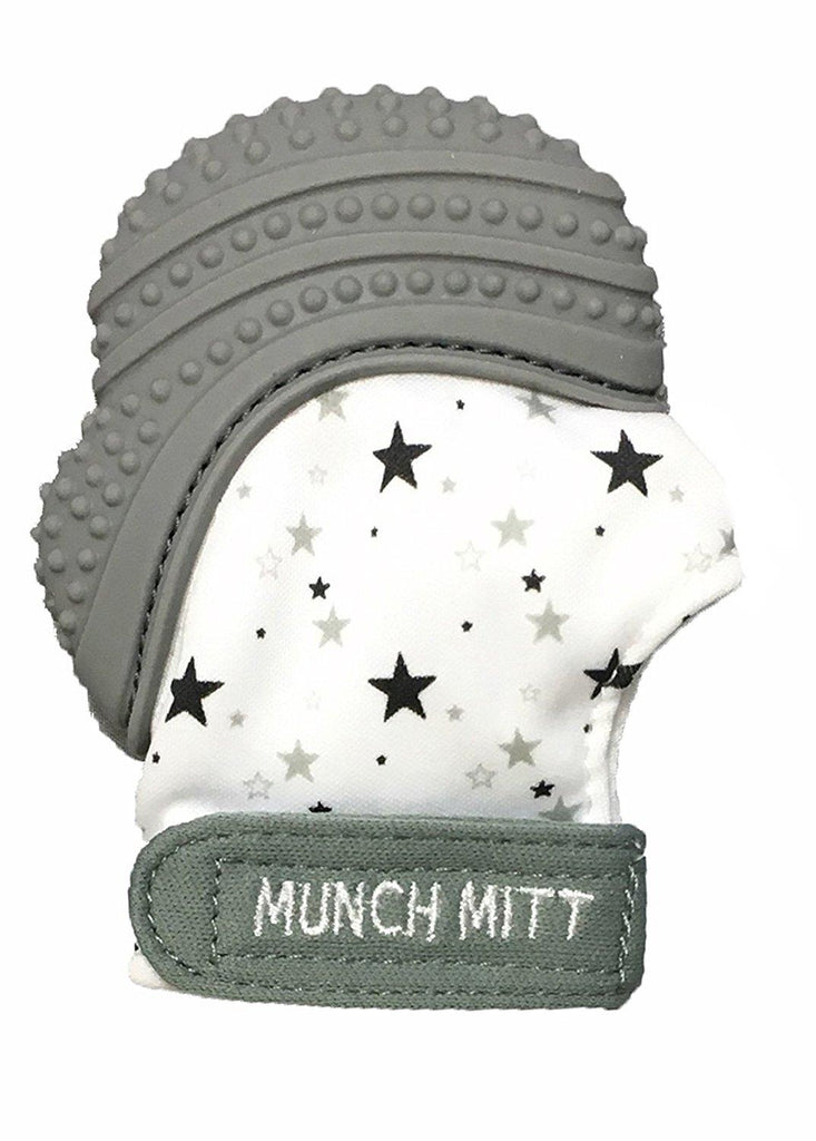 Munch Mitt Baby Teething Mitten Grey - Jouets LOL Toys