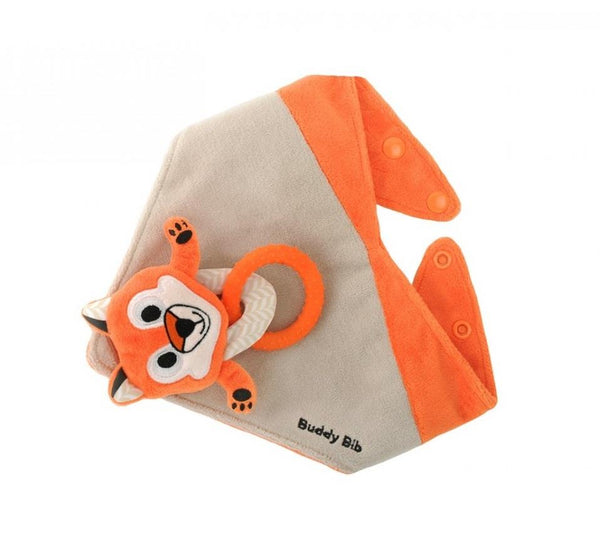 Buddy Bib Teething & Pacifier Holding Bib Felix Fox - Jouets LOL Toys