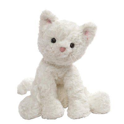 Gund Cozy White Cat - Jouets LOL Toys