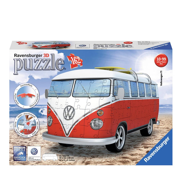Ravensburger 3D Puzzle Volkswagen Red Bus (162pcs)