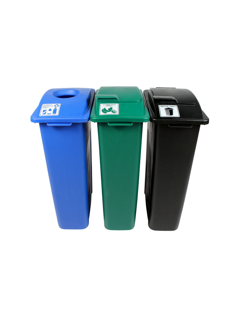 WASTE WATCHER STATION - BLUE/GREEN/BLACK [8106250-155]