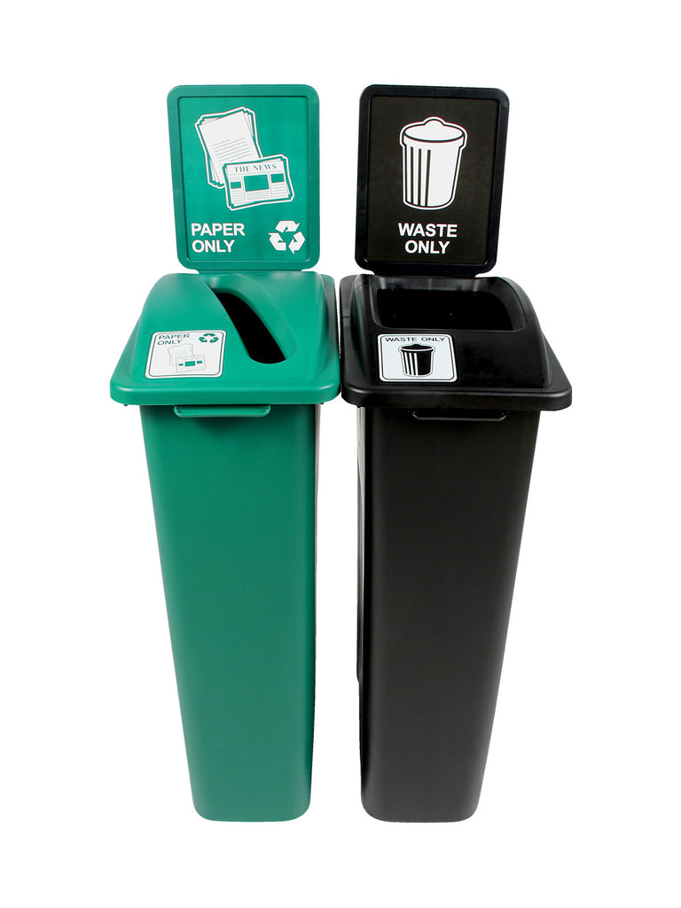 WASTE WATCHER STATION - GREEN/BLACK [8106240-34]