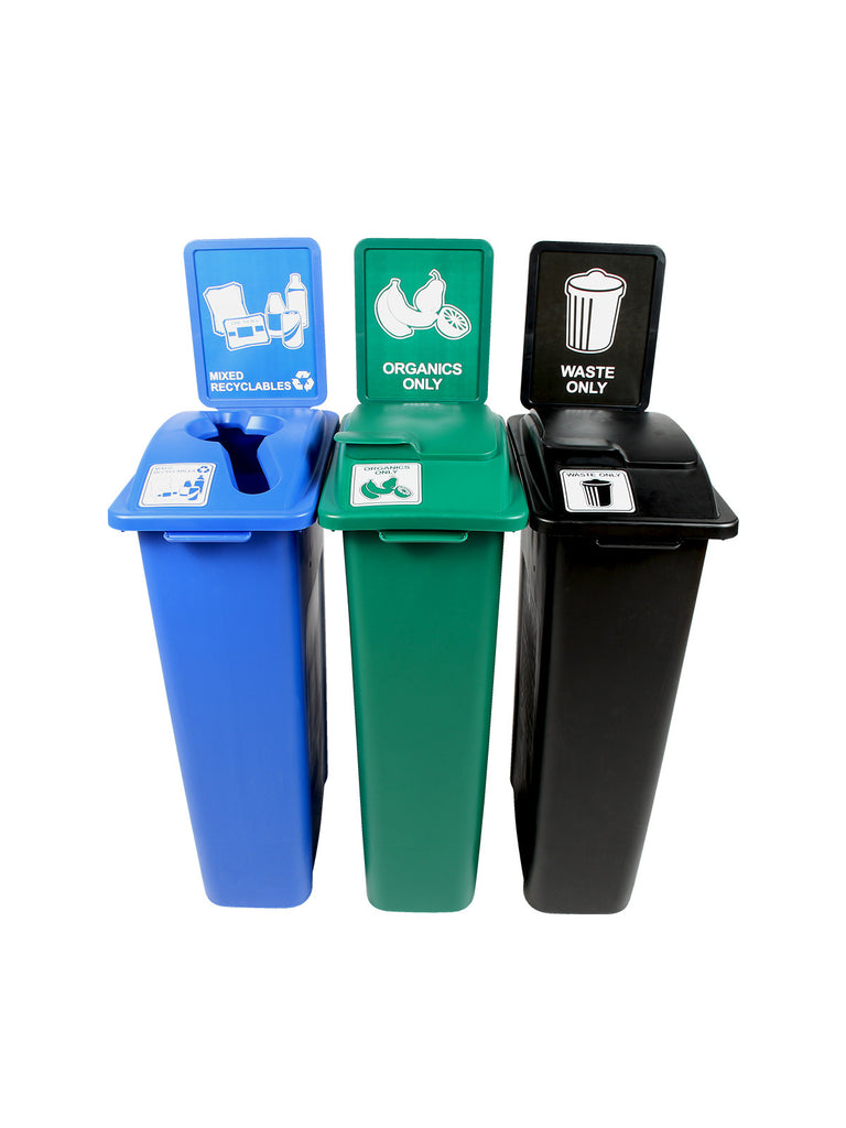 WASTE WATCHER STATION - BLUE/GREEN/BLACK [8106252-255]