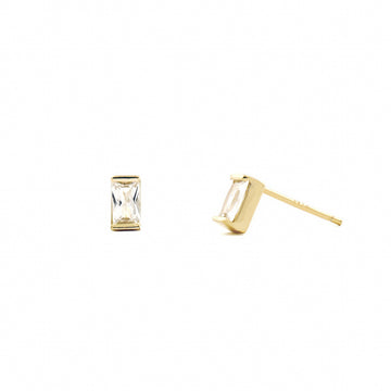 Odela Baguette Studs - Made Different Co Personalised Jewellery