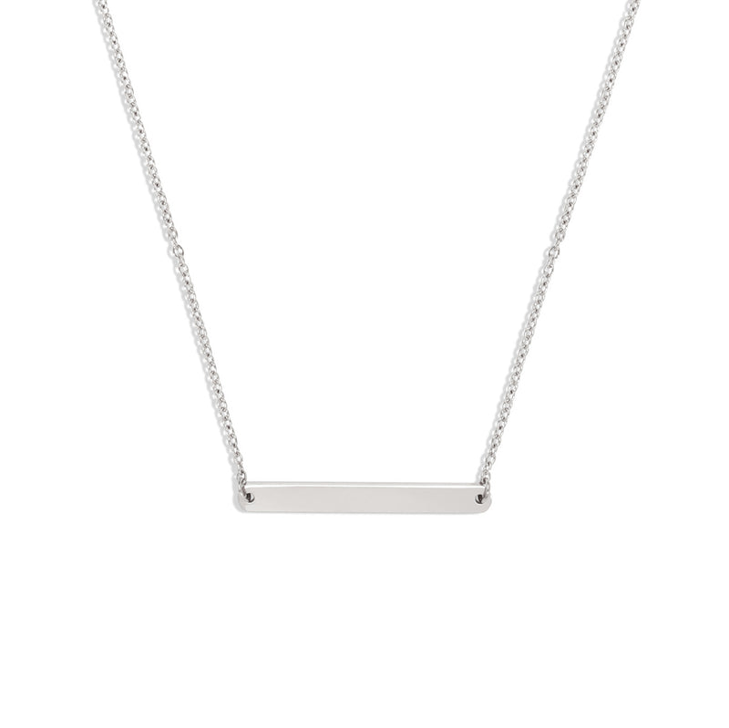 Horizontal Bar Necklace | Made Different Co | Singapore Personalised Jewellery