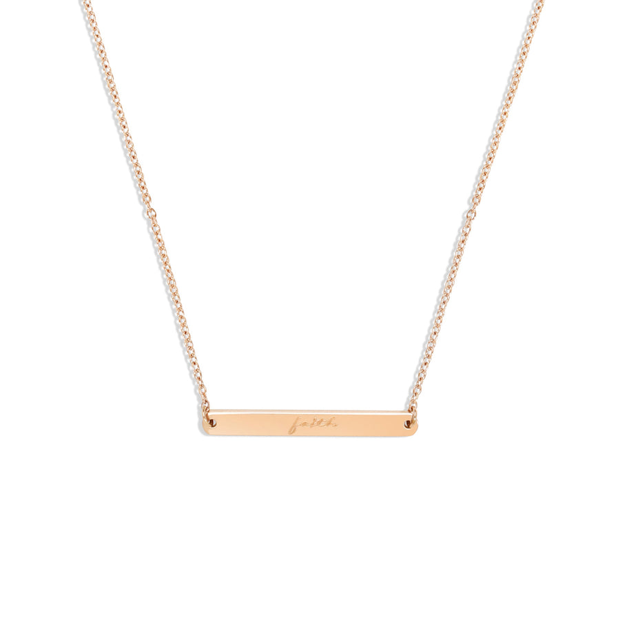 Horizontal Bar Necklace - Made Different Co Personalised Jewellery