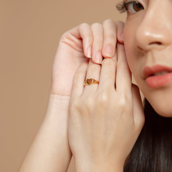 Leea Heart Ring | Made Different Co | Singapore Personalised Jewellery