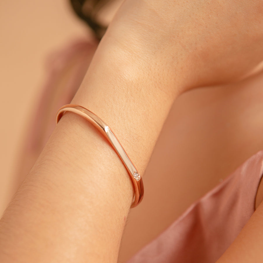 Strength Starburst Bangle | Made Different Co | Singapore Personalised Jewellery