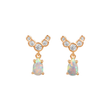 Lanna Opal Earrings - Made Different Co Personalised Jewellery