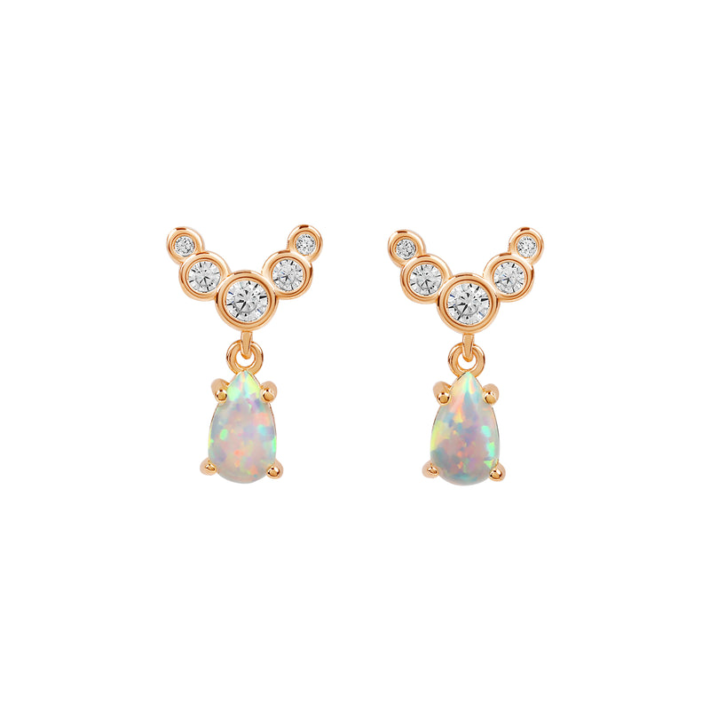 Lanna Opal Earrings | Made Different Co | Singapore Personalised Jewellery
