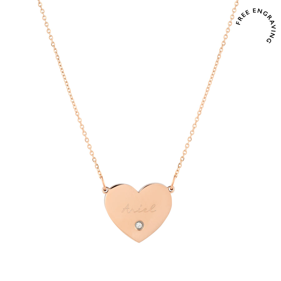Larae Heart Necklace - Made Different Co Personalised Jewellery