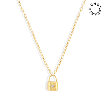 *BACKORDER* Loyalty Lock Necklace