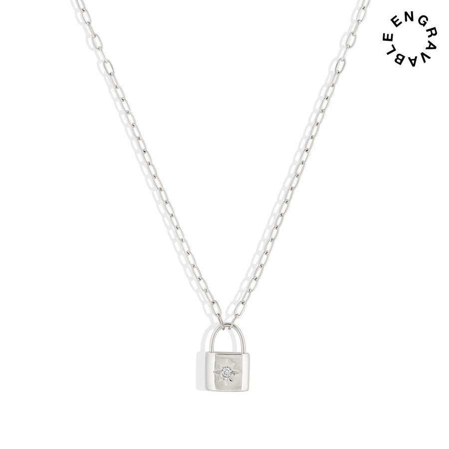 Loyalty Lock Necklace - Made Different Co Personalised Jewellery