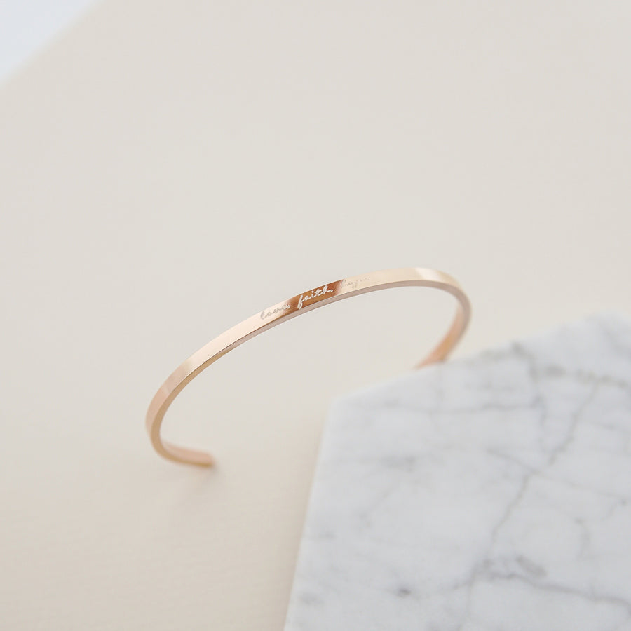 Signature Thin Bangle (Previous Edition) - Made Different Co Personalised Jewellery