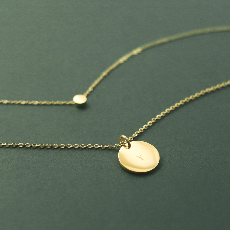 Round Pendant Necklace - Made Different Co Personalised Jewellery