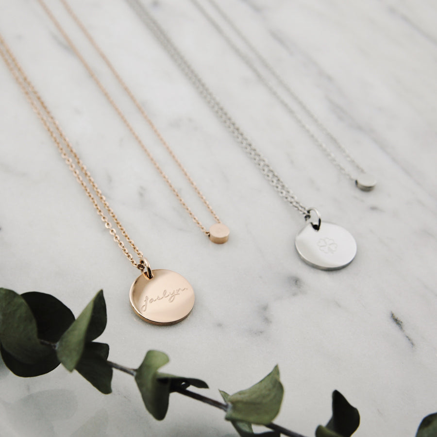 Round Pendant Necklace | Made Different Co | Singapore Personalised Jewellery