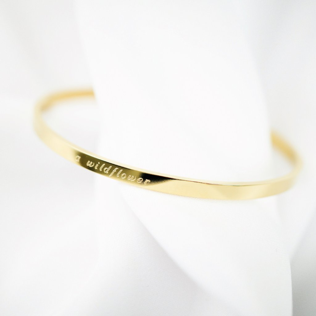 Signature Thin Bangle - MADEDIFFERENTCO PERSONALISED JEWELRY