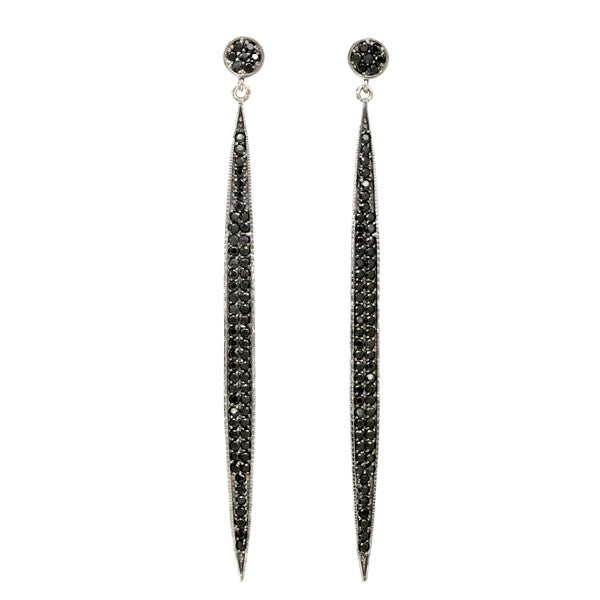 Black Spinel Earrings