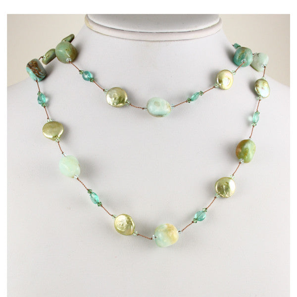 Pearl & Gemstone Necklace