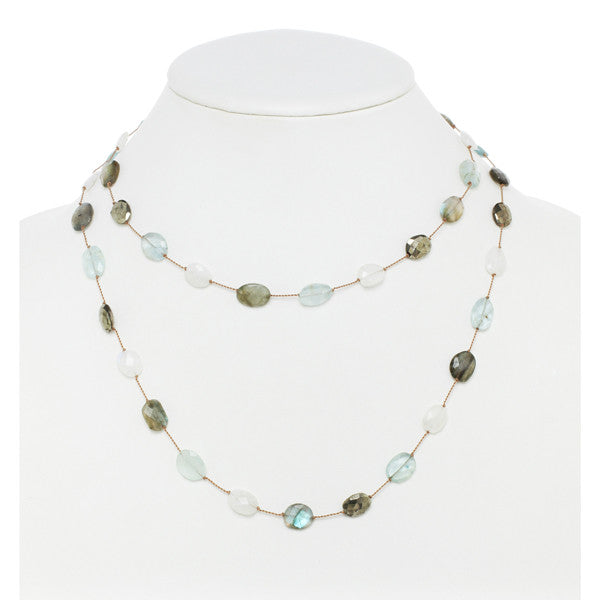 "35"" Multi-Stone Necklace"