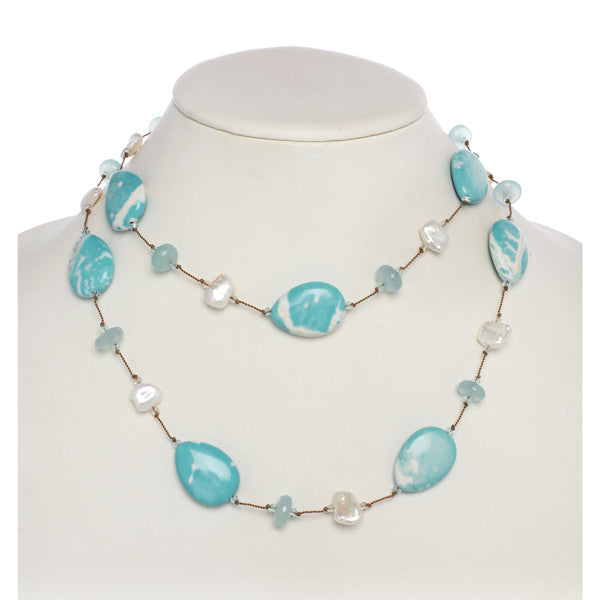 Gemstone & Pearl Necklace
