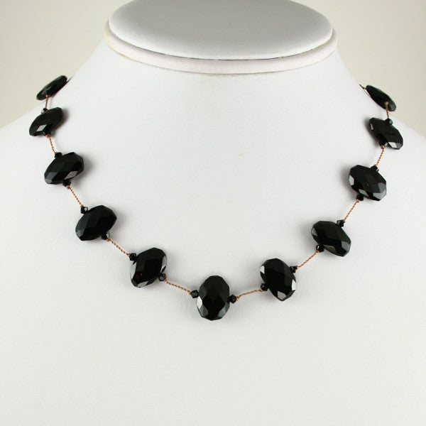 Black Garnet Necklace