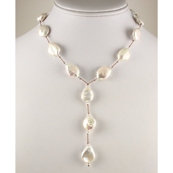 "Pearl ""Y"" Necklace"