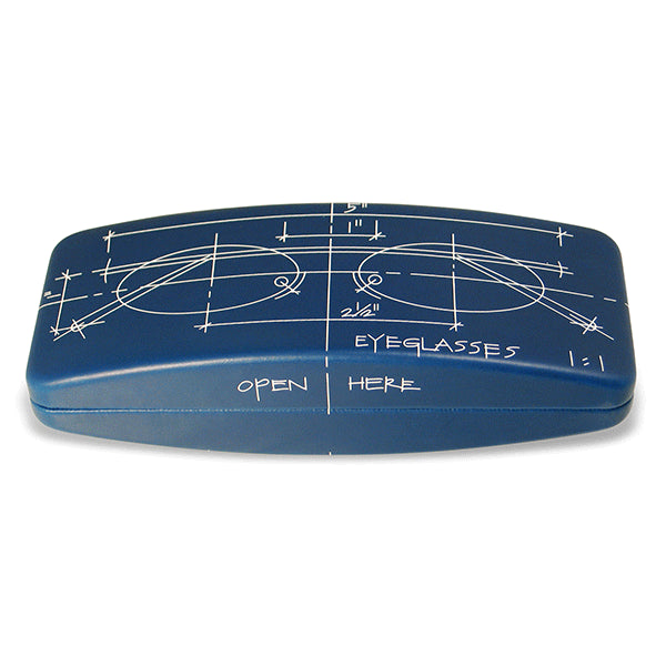 """Blueprint"" Eyeglass Case"