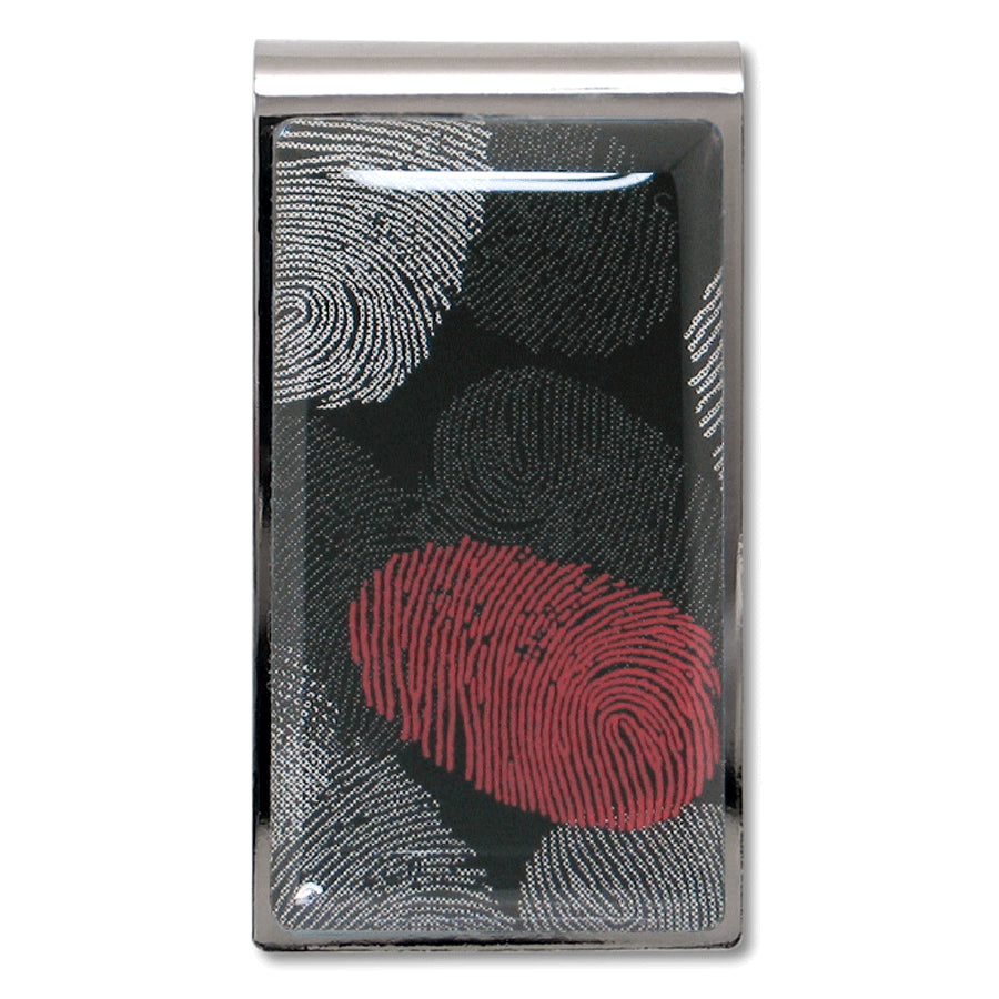 """Fingerprints"" Money Clip"