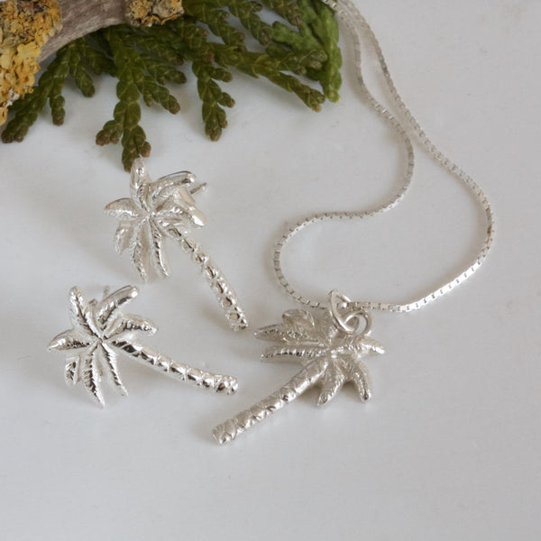 silver palm tree jewellery