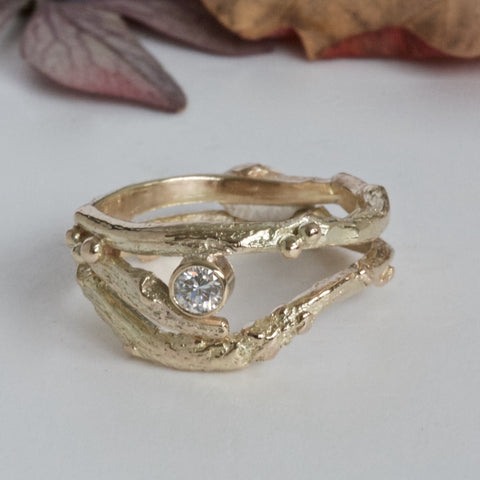 nature engagement and wedding ring