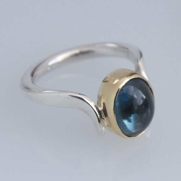 Blue Topaz Ring November Birthstone