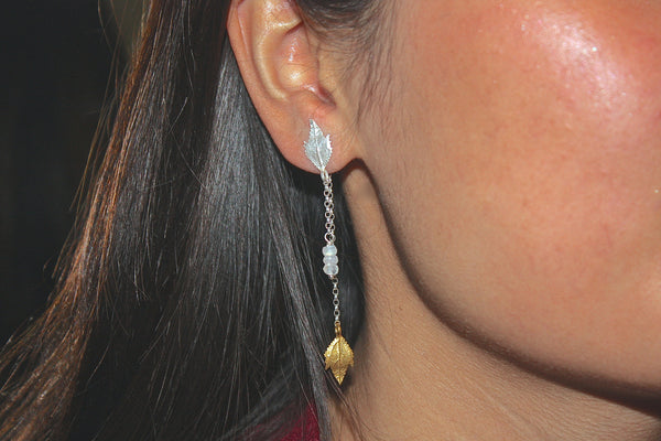 Front and Back Leaf Earrings