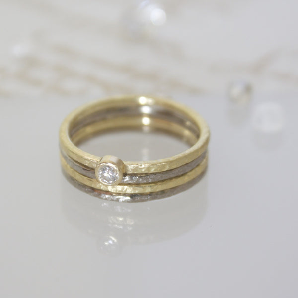 Dainty Gold Diamond Solitaire Ring